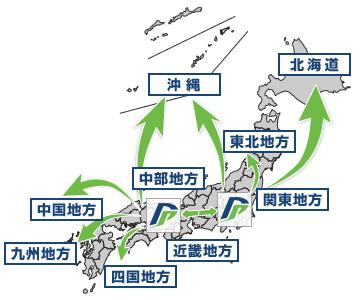 強固な輸配送ネットワーク